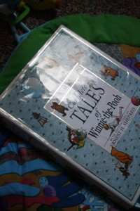 This is the first big book we are reading.  I read a chapter to him about 3 days a week.  LOVE Pooh and all of his friends!