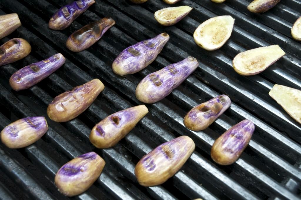Grilling Eggplants