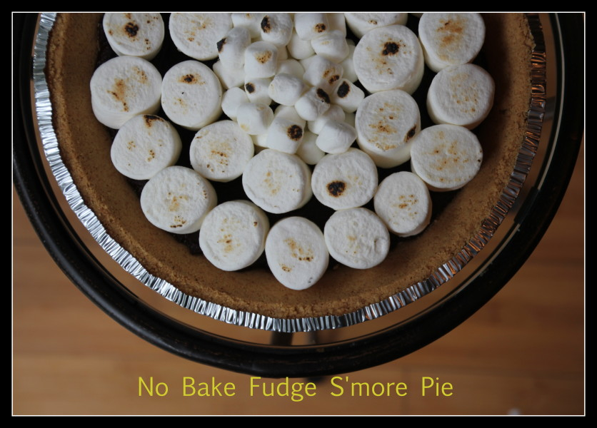 No Bake Fudge Smores Pie