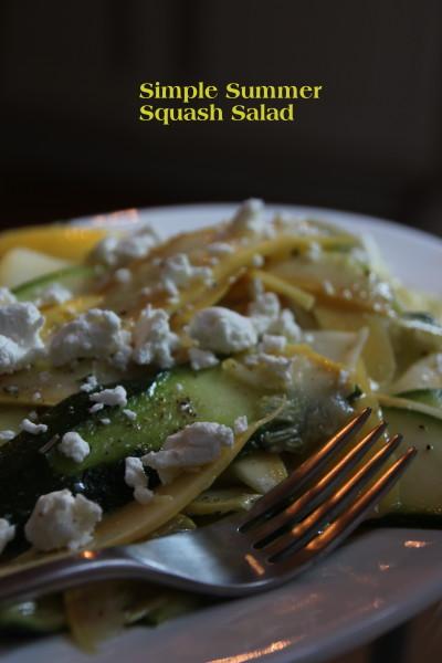 Simple Summer Squash Salad