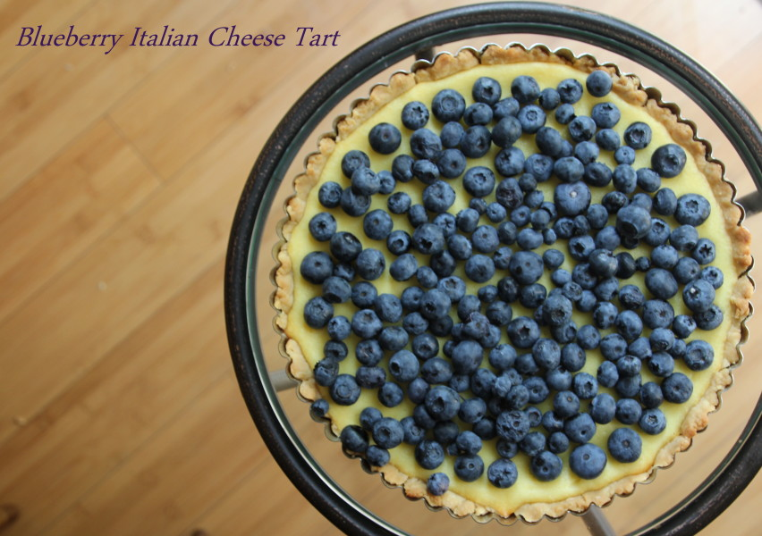 Blueberry Italian Cheese Tart