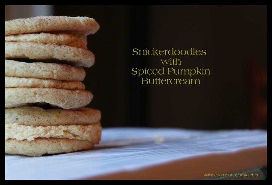 Snickerdoodles with Spiced Pumpkin Buttercream