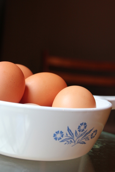 Eggs and Corningware