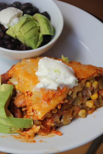 Roasted Chicken Enchilada Casserole