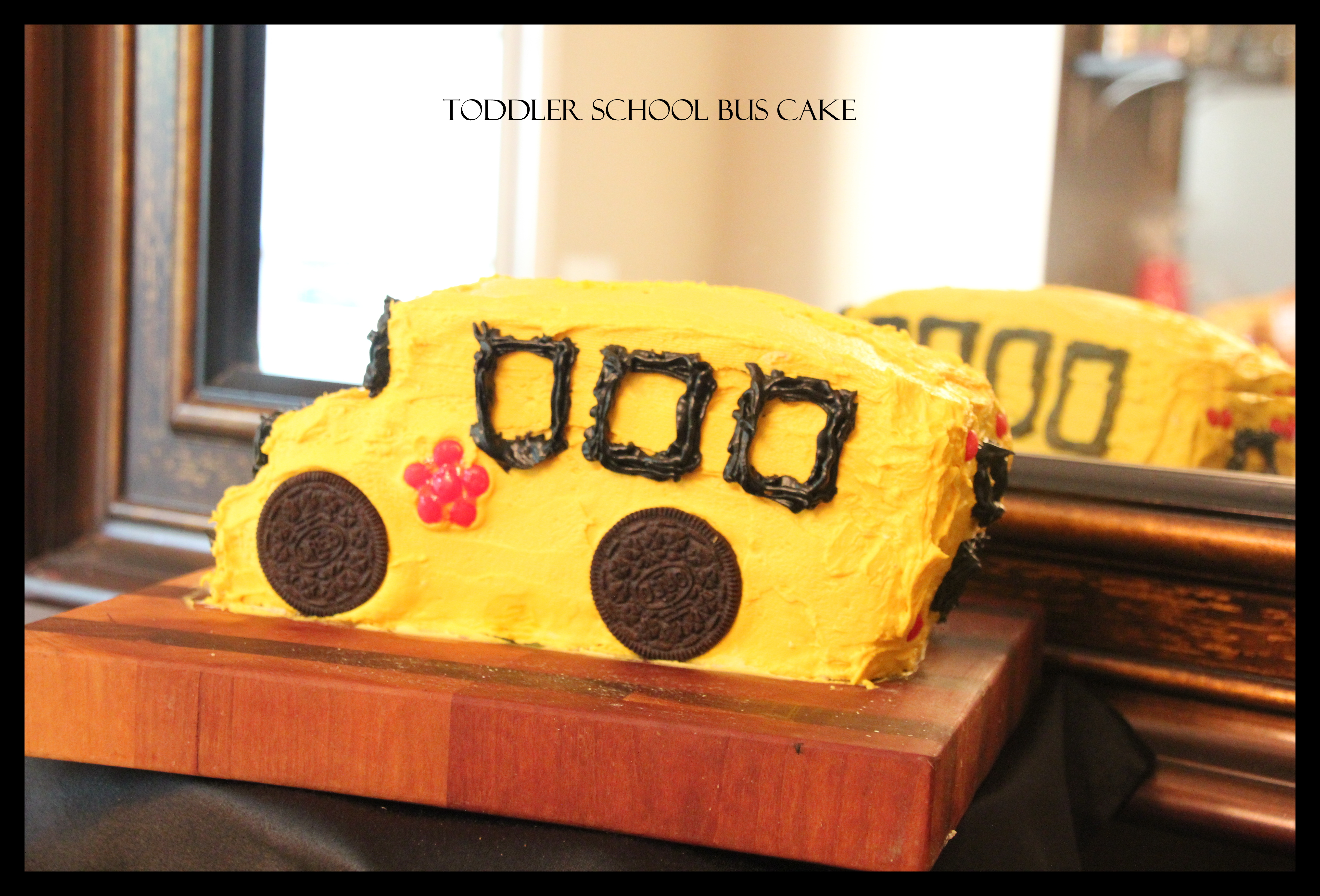 Little Yellow School Bus Cake Kcreatives