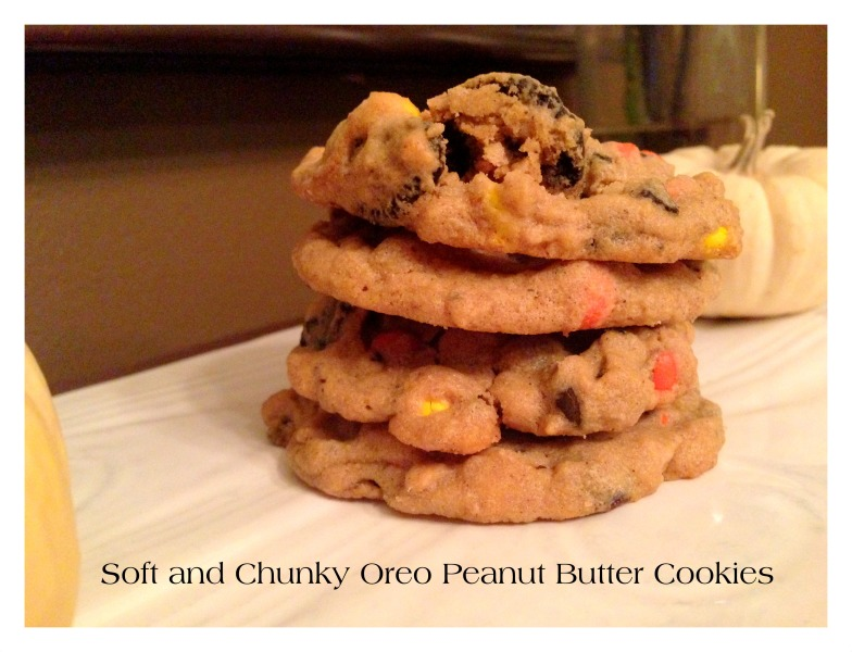 Soft and Chunky Oreo Peanut Butter Cookies