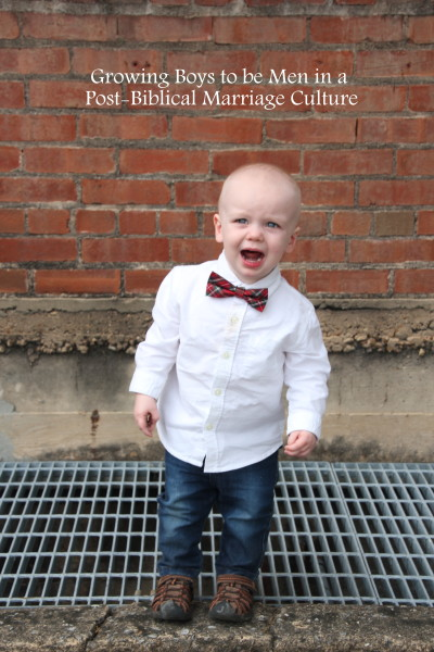 Raising Boys in the Post-Biblical Marriage Culture