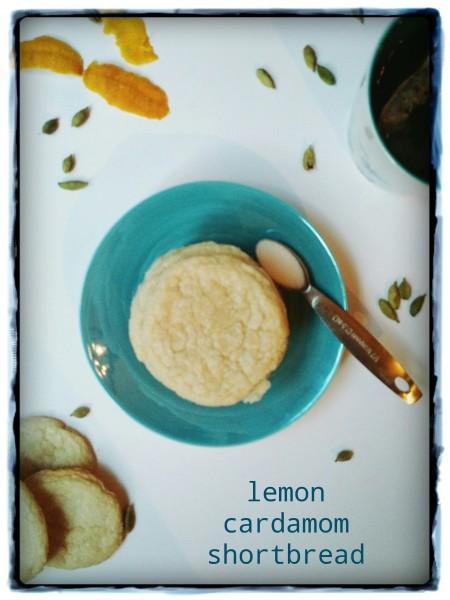 Lemon Cardamom Shortbread
